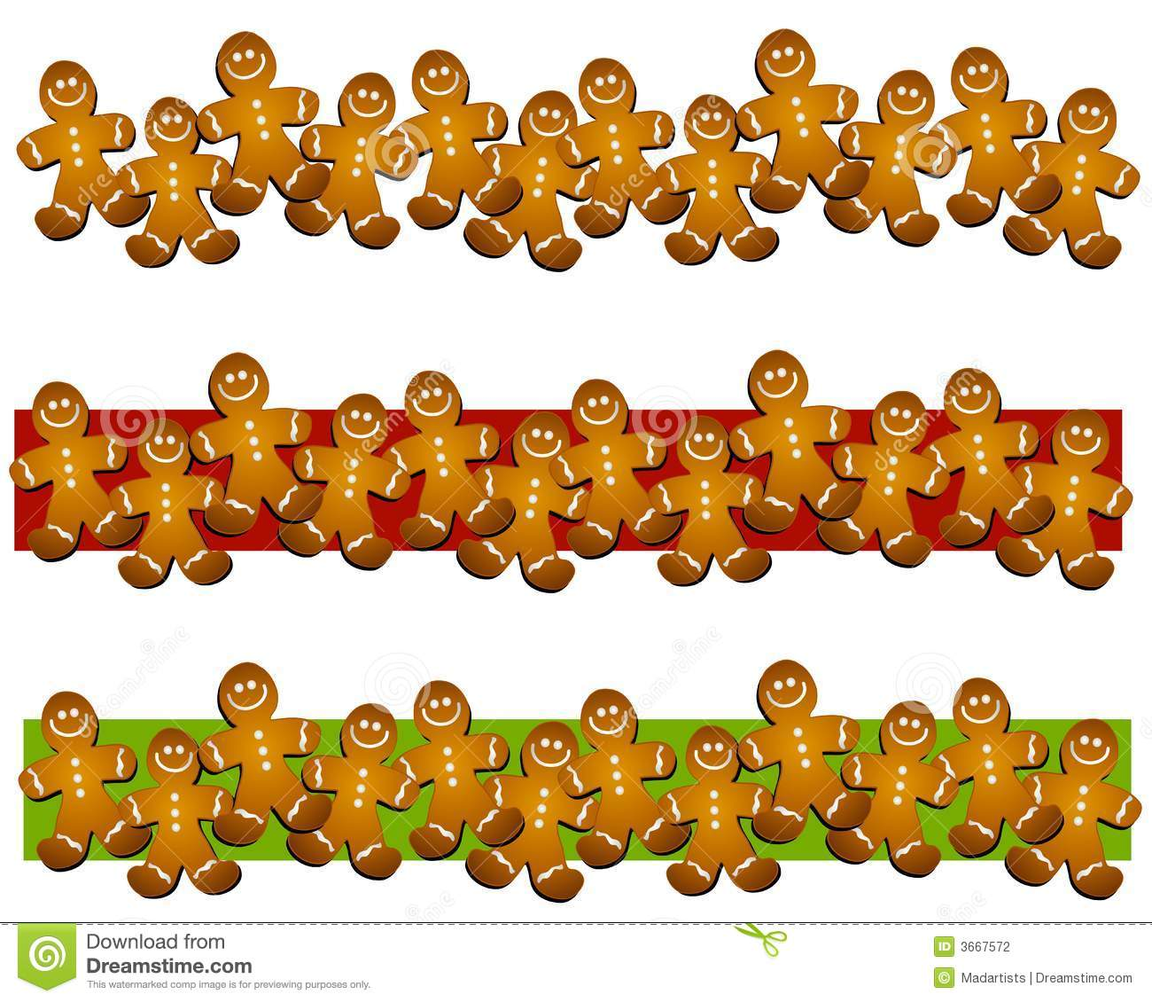 Gingerbread Man Cookie Clipart.