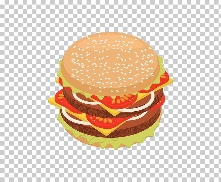 Fast food Hamburger Pizza Hot dog French fries, Yummy Burger.