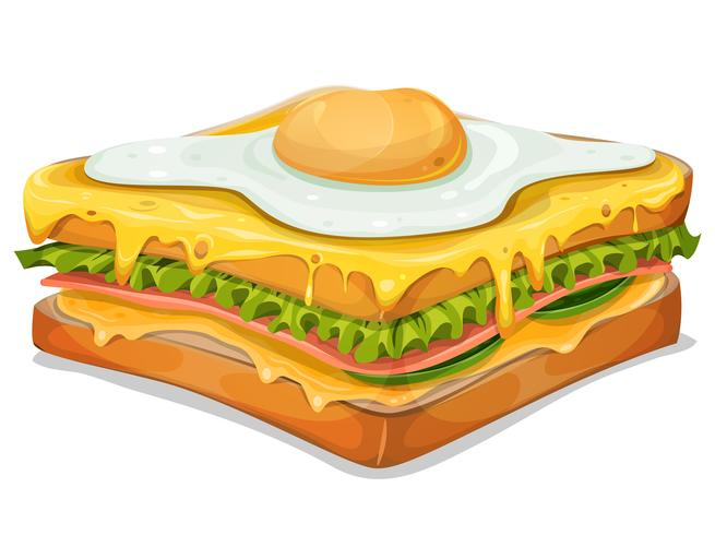 French Sandwich With Fried Egg.