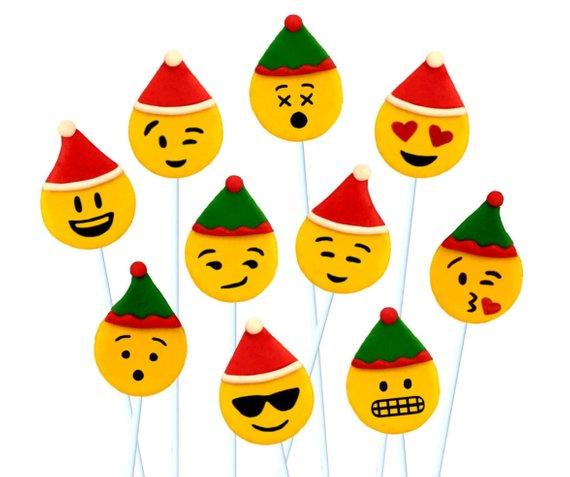 SANTA and ELF Christmas EMOJI candy.