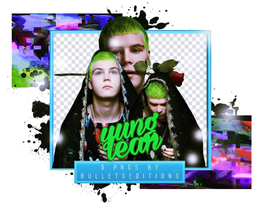vii. YUNG LEAN PNG PACK #1 by BULLETSEDITIONS on DeviantArt.