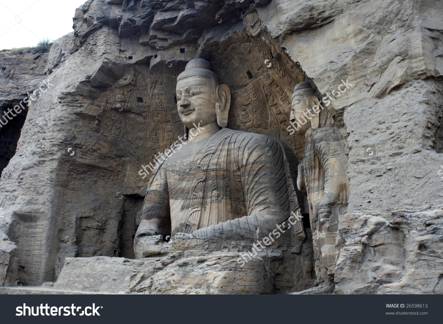 China/Shanxi:Stone Carving Of Yungang Grottoes, The Biggest Buddha.