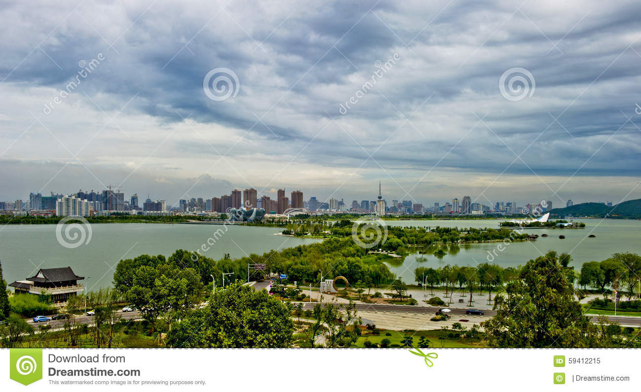 Xuzhou Yunlong Lake Stock Photo.