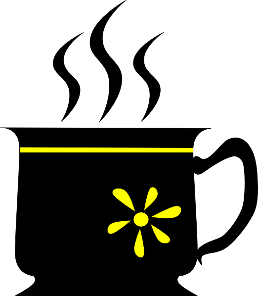 Yuri Black Cup With Yellow Flower clip art Free Vector / 4Vector.