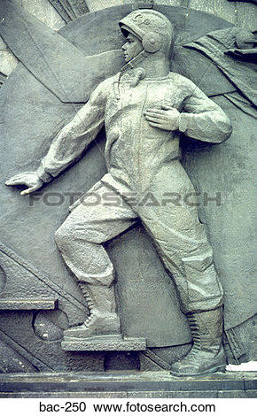 Stock Photography of Soviet Space Monument showing Yuri Gagarin.