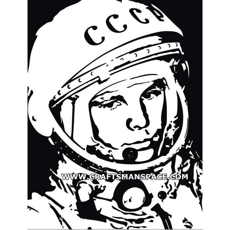 Yuri Gagarin Vector Pattern.