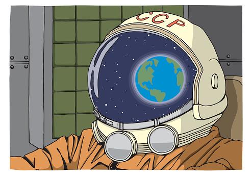 Yuri Gagarin Clip Art, Vector Images & Illustrations.