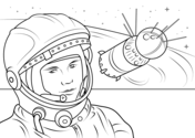 Space & Astronomy coloring pages.