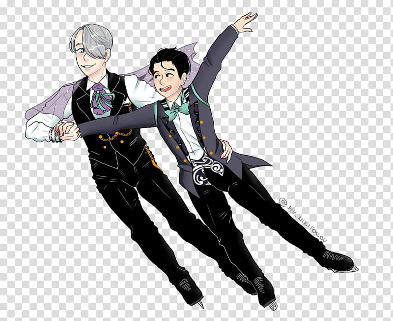 Yuri on ICE Select Book cover fanart transparent background.