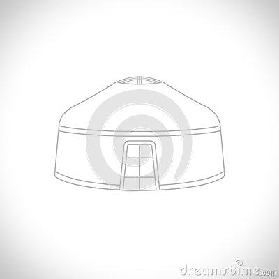 Yurt Stock Illustrations.