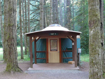 Yurts and Cabins in OR and WA State Parks.