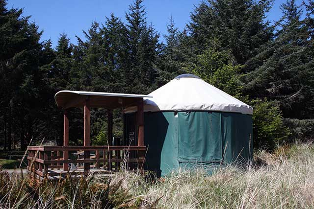 Rent a Yurt or Cabin at Cape Disappointment State Park.
