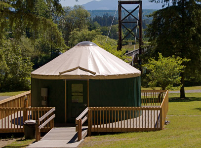 Rent a Yurt at a King County Park near Seattle.