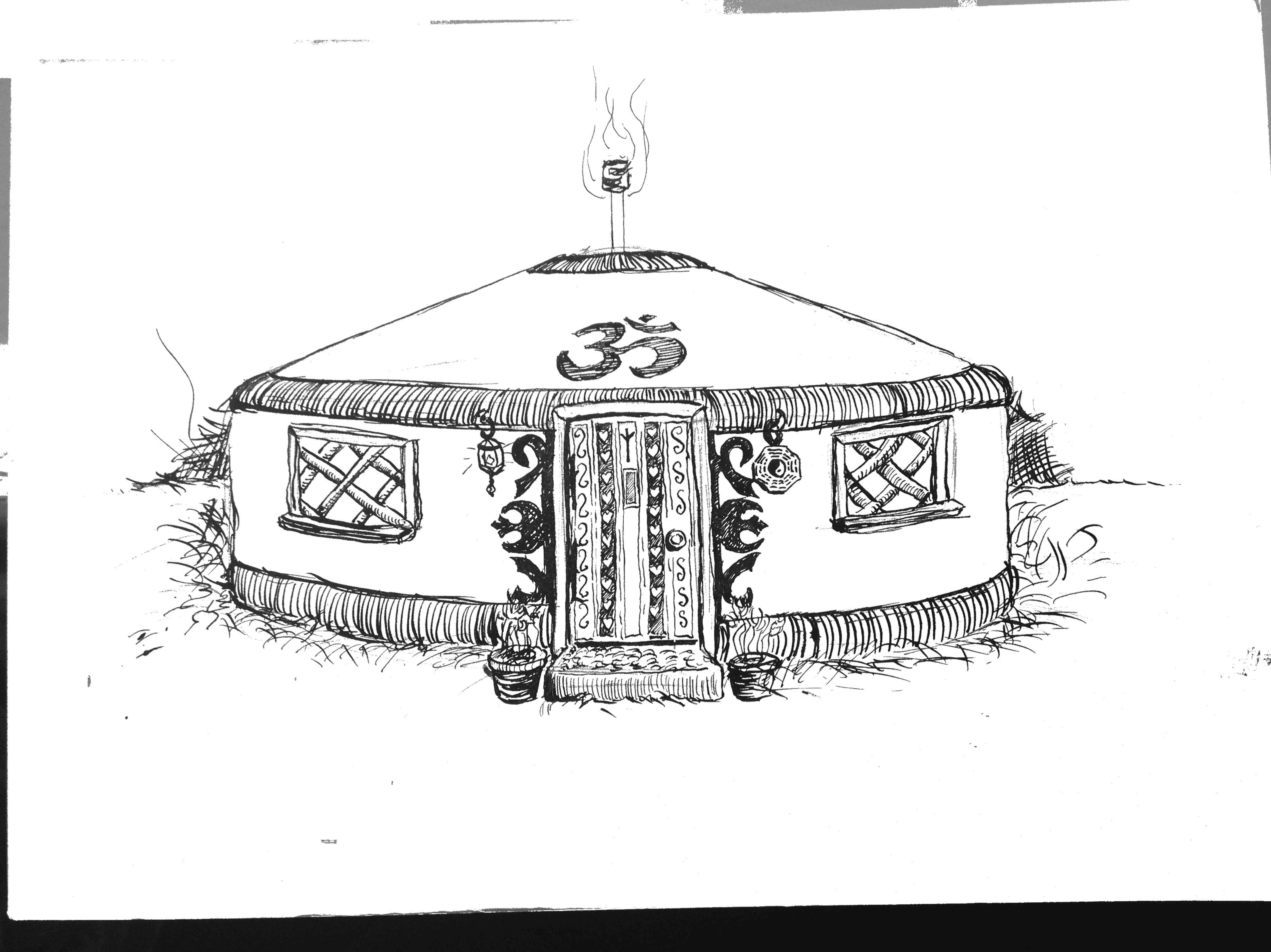 Yurt clipart.