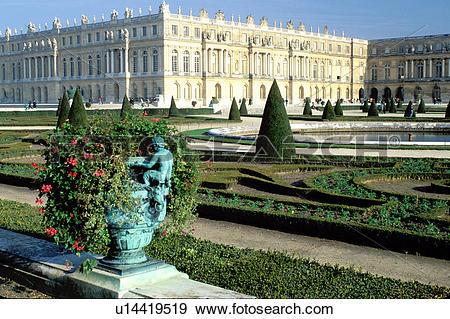 Stock Photograph of Versailles, palace, France, Ile de France.