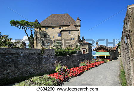 Stock Photography of Yvoire castle, France k7334260.
