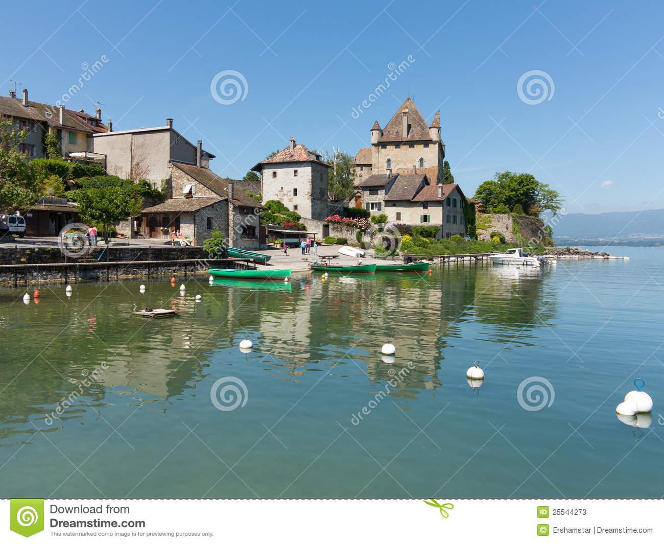 Yvoire On Lake Geneva, France Stock Photos.