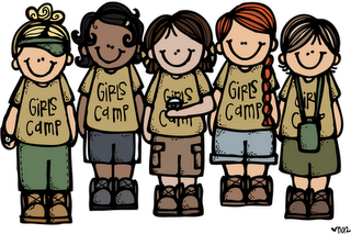 Girls Camp Clipart (melonheadsillustrating.blogspot.com.