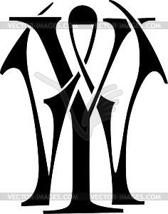 Monogram YW.