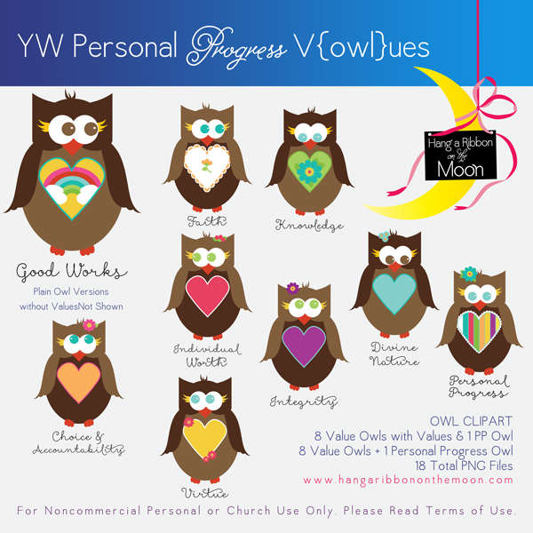 YW Personal Progress V{owl}ues Clipart.