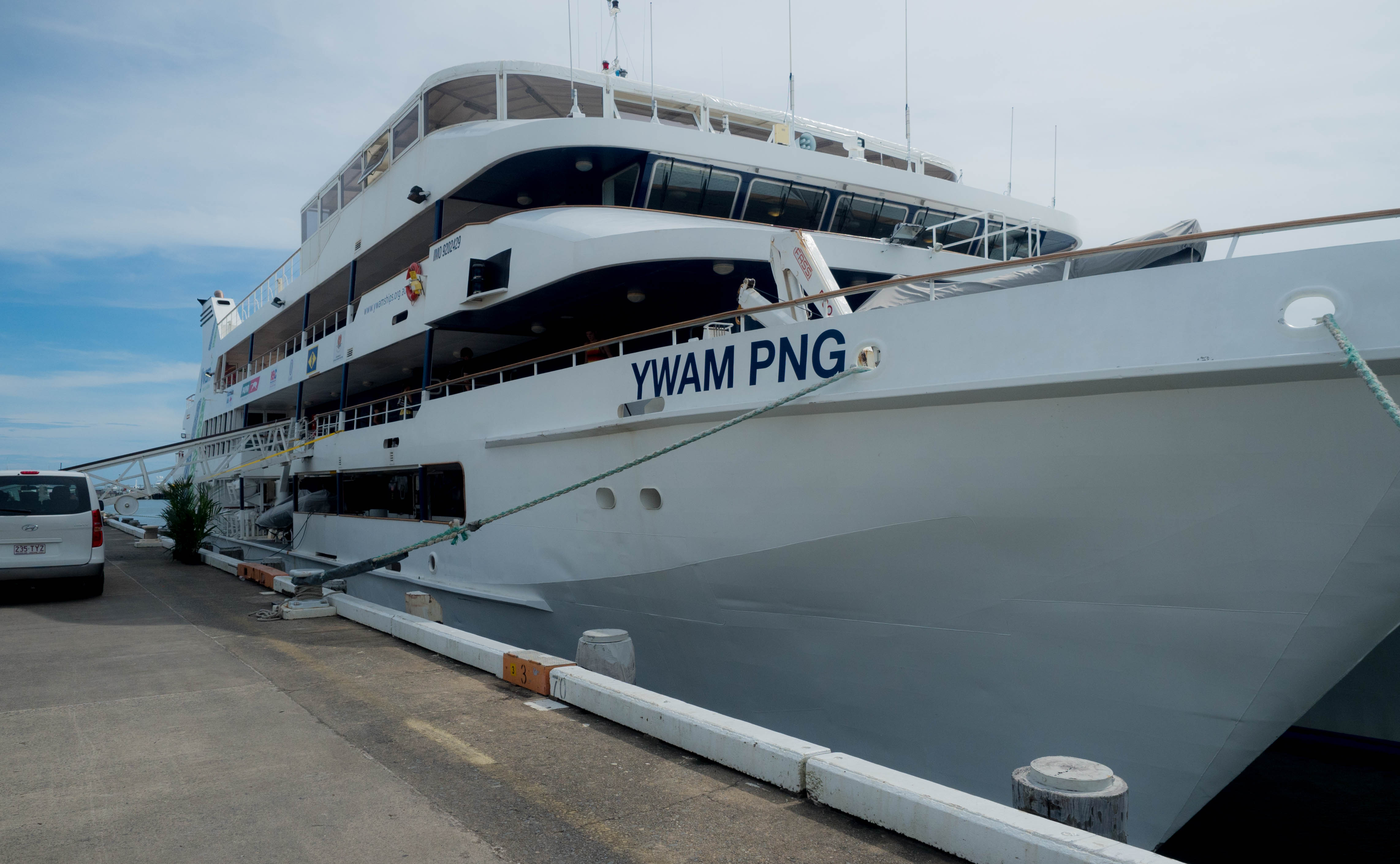Ports North Welcomes MV YWAM PNG to Cairns.