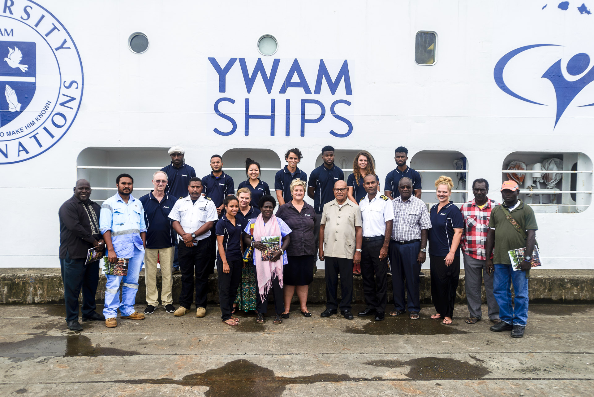 YWAM Ships Welcomes Bougainville President Momis in PNG.