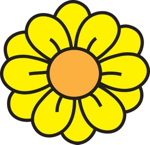 Yellow clipart flower.