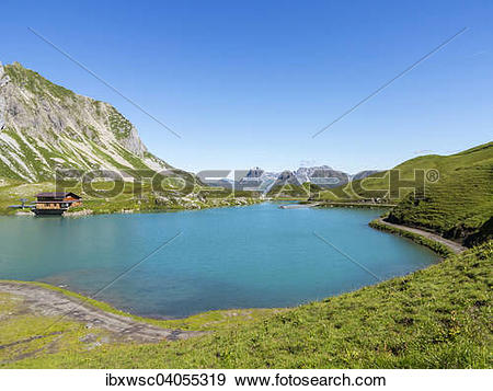 "Stock Photograph of ""Zurser See lake, Lechtal Alps, Zurs, Lechtal."