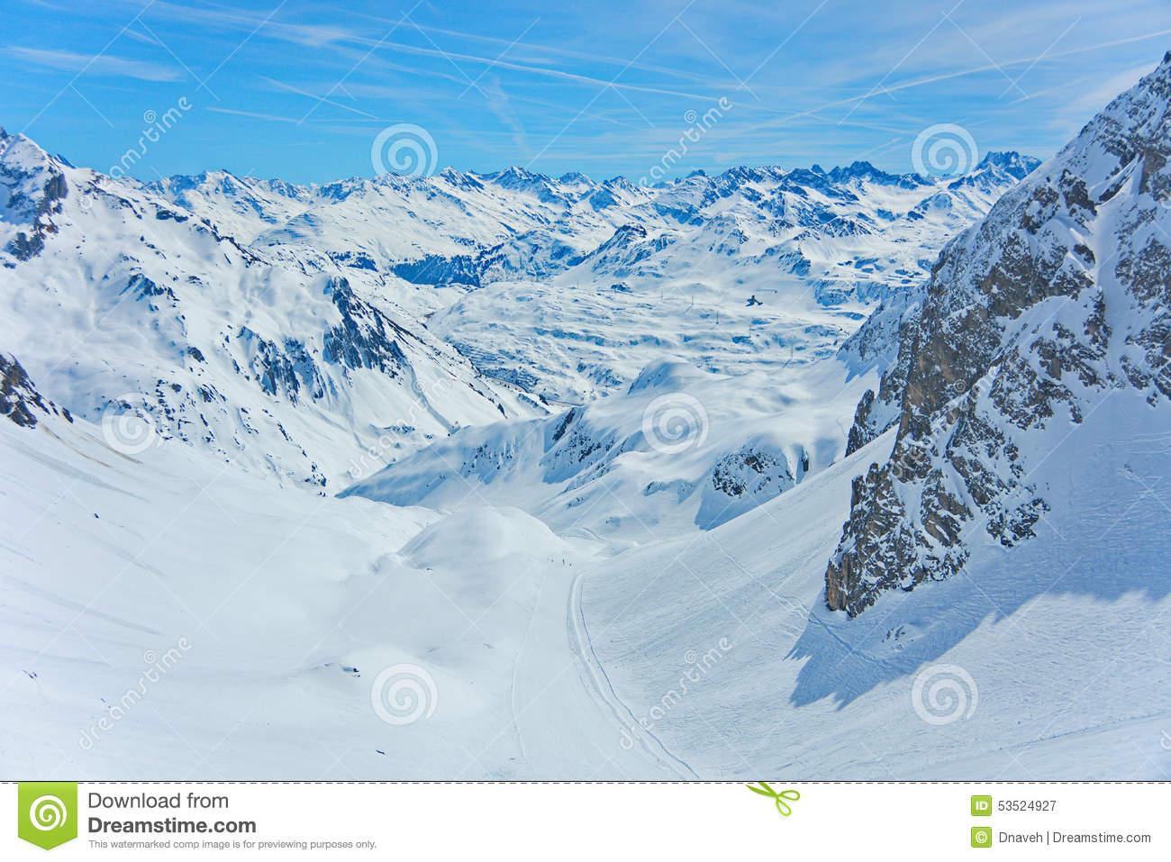 Lech Zurs Ski Resort, Arlberg, Tyrol, Austria Stock Photo.