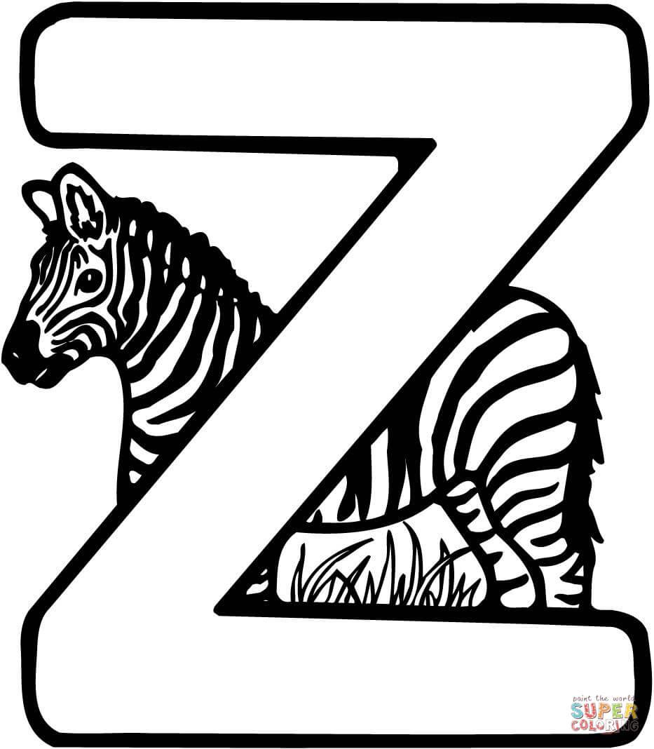 Z For Zebra Clipart.