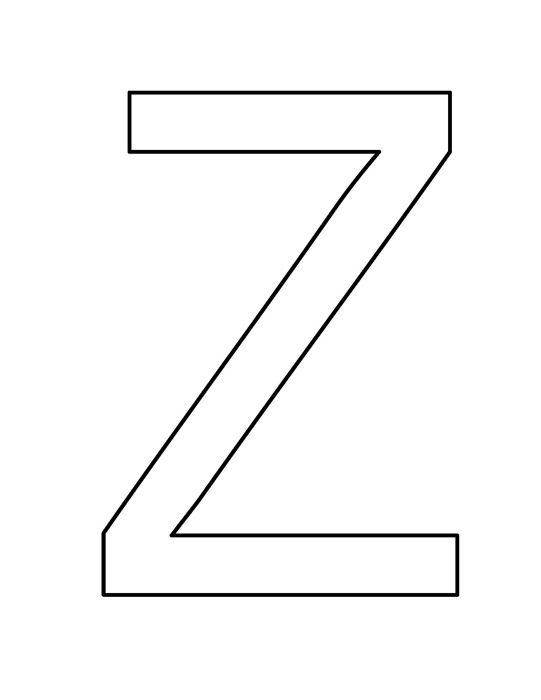Z Clipart Black And White.