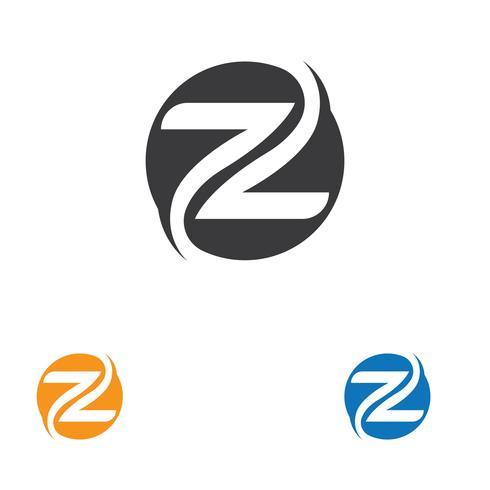 Z Letter Logo Template vector icon illustration.