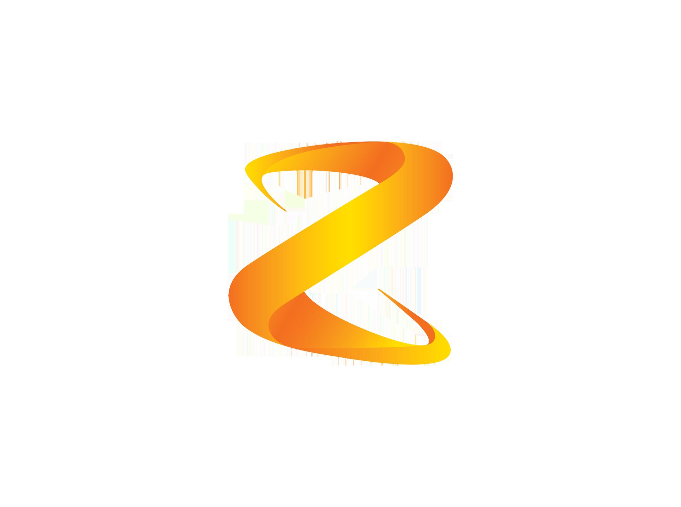 keywords: logo design Z corporate 3D.