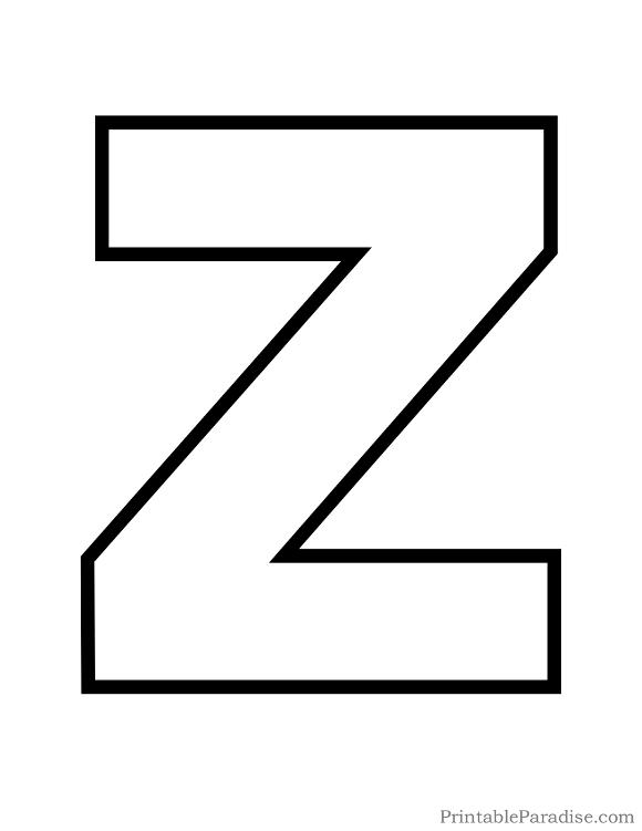 Letter Outline Png Uppercase Z & Free Letter Outline.