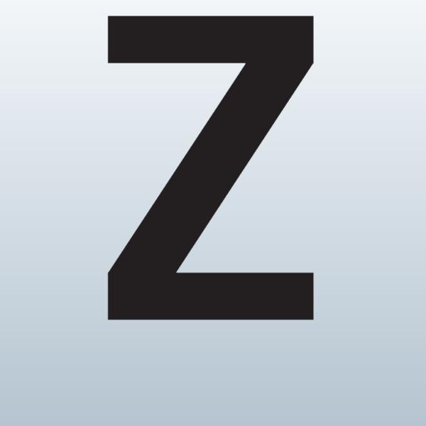 Letter outline clipart uppercase z.