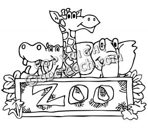 Zoo clipart black and white 2 » Clipart Station.