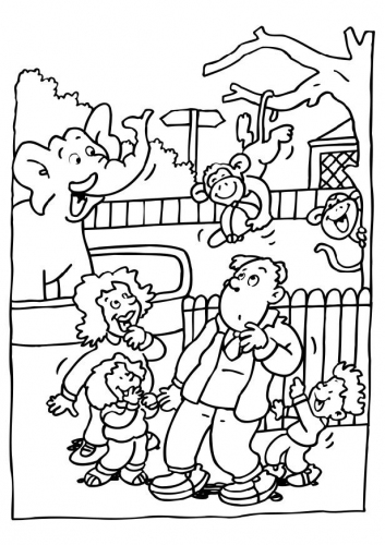 Zoo clipart black and white » Clipart Station.