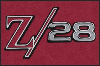 Custom Chevrolet Camaro Z28 Logo Rug.