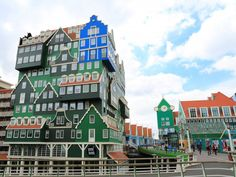 stacked house hotel in amsterdam.