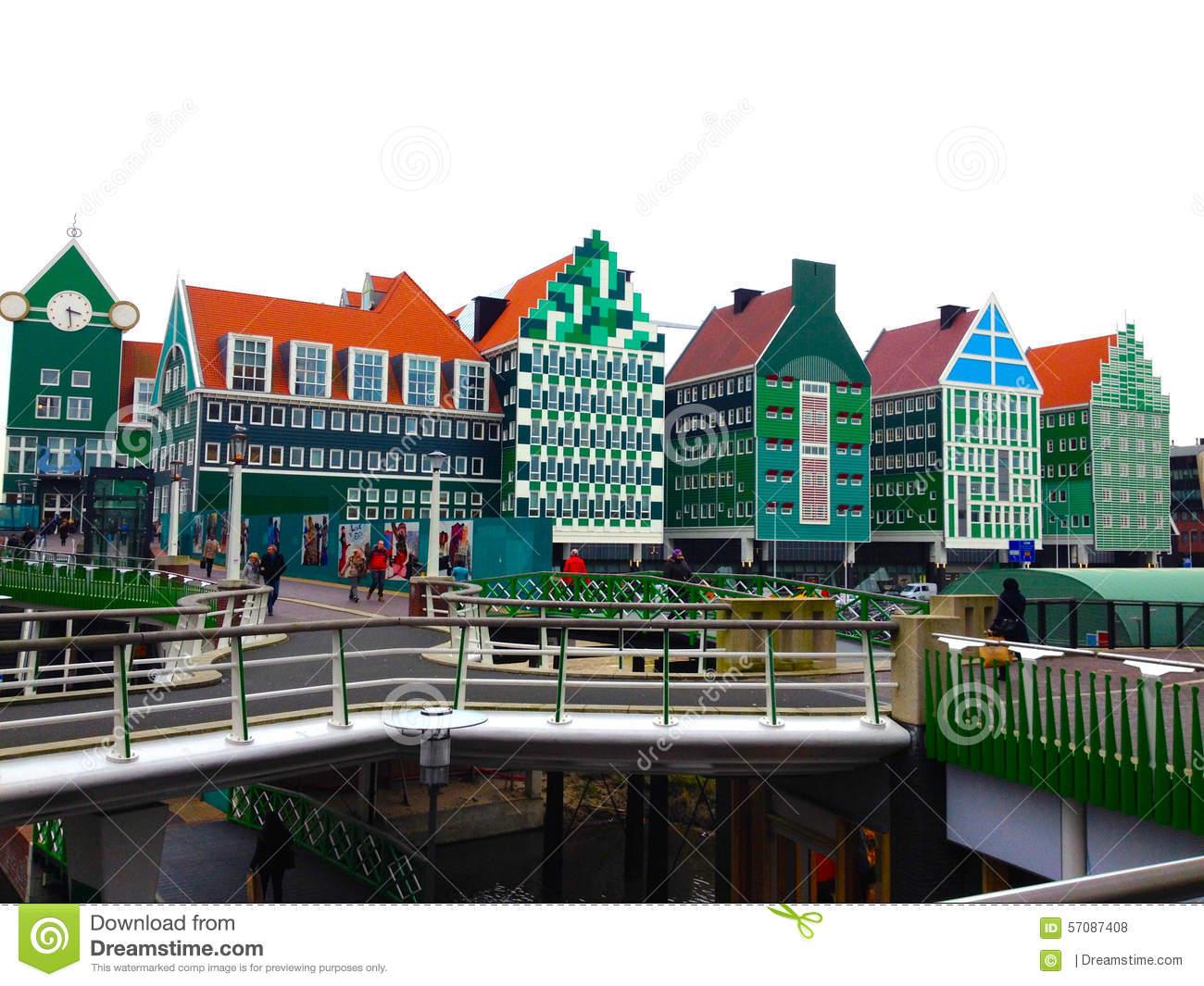 Zaandam Architecture Editorial Stock Photo.