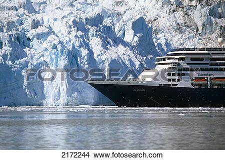 Stock Photo of Holland America Cruiseship *Zaandam* In Front Of.