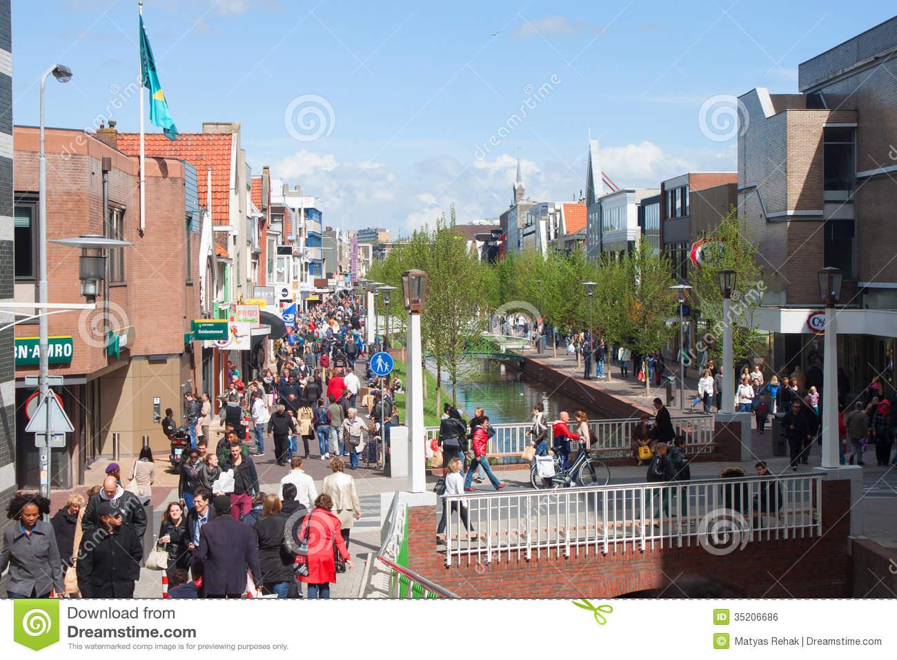 Pedestrian Zone In Zaandam, Editorial Photo.