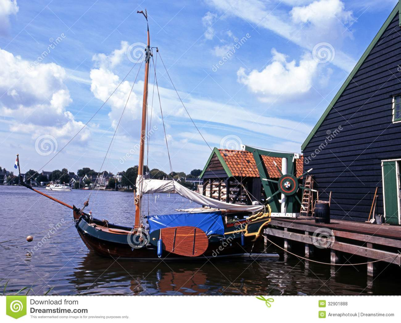 Zaanse Schans, Holland Royalty Free Stock Images.