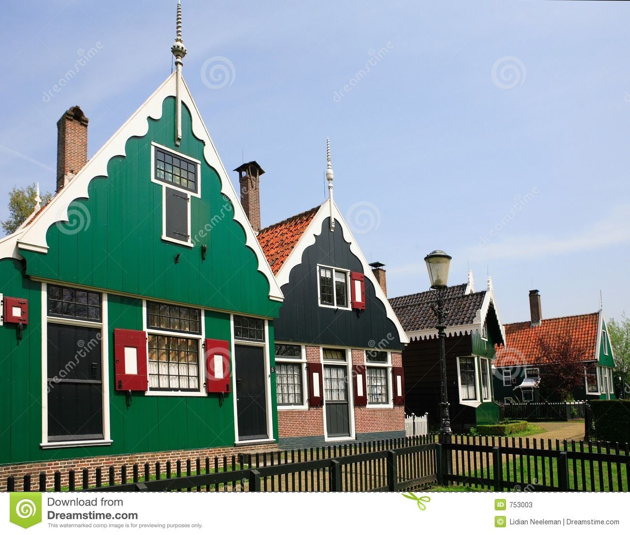 Zaanse Schans Stock Photos.