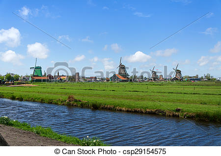 Picture of Tourist Destination in Zaanse Schans, The Netherland.