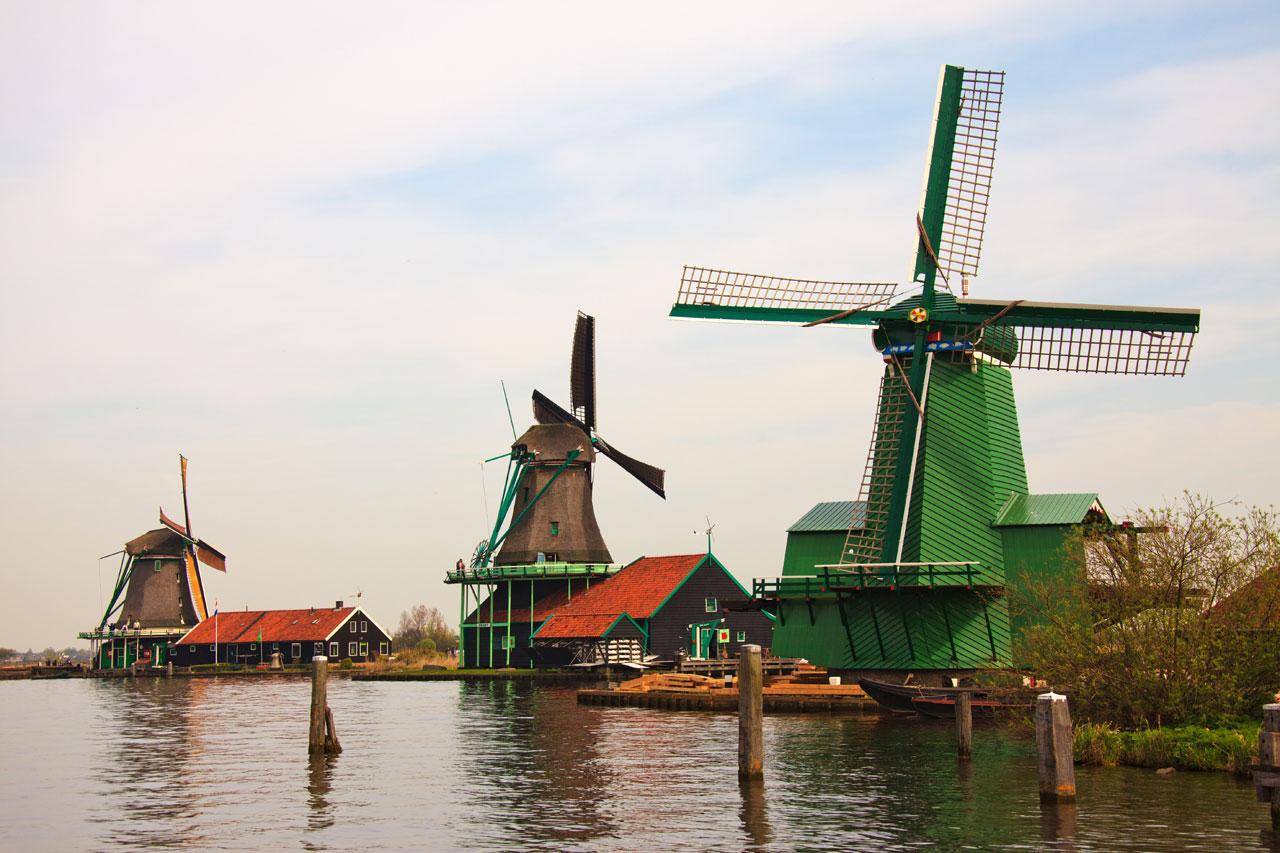 Zaanse Schans Windmills Prsw.