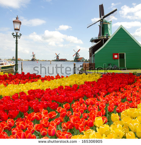 Vector Images, Illustrations and Cliparts: dutch windmill of.