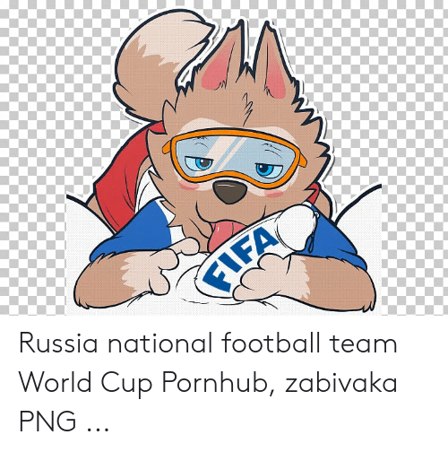 FIFA Russia National Football Team World Cup Pornhub Zabivaka PNG.