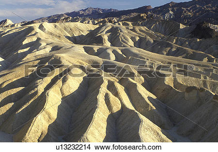 Stock Photo of Death Valley, California, Mojave Desert, CA, View.