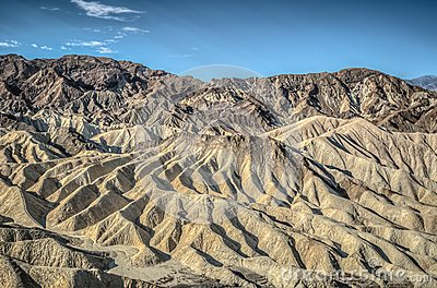 Death Valley Zabriskie Point Stock Photo.